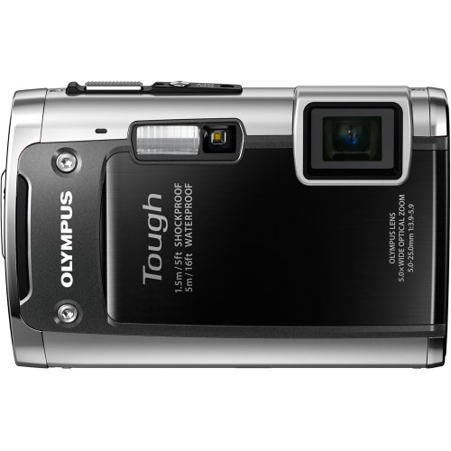 Olympus TG-610 14 MP Digital Camera with 3.6x Optical Zoom, Waterproof, Shockproof, Freezer Proof, 3D, Wi-Fi, 5x Optical zoom (Black)