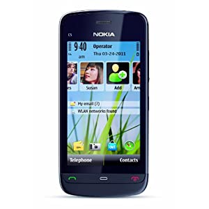 Nokia C5-03 Unlocked GSM Phone with 5 MP Camera and Ovi Maps Navigation Optimized for AT;T--U.S. Version with Warranty (Graphite Black)