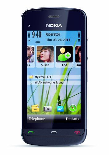 Nokia C5-03 Unlocked GSM Phone with 5 MP Camera and Ovi Maps Navigation Optimized for AT&T–U.S. Version with Warranty (Graphite Black)