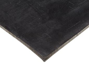 "Neoprene Sheet, 60A Durometer, Smooth Finish, No Backing, Black, 1/8"" Thickness, 12"" Width, 24"" Length"