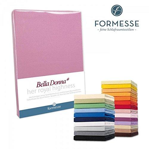 Spannbettlaken Bella Donna Jersey für Matratzen & Wasserbett 180-200 x 200-220 cm in Grau