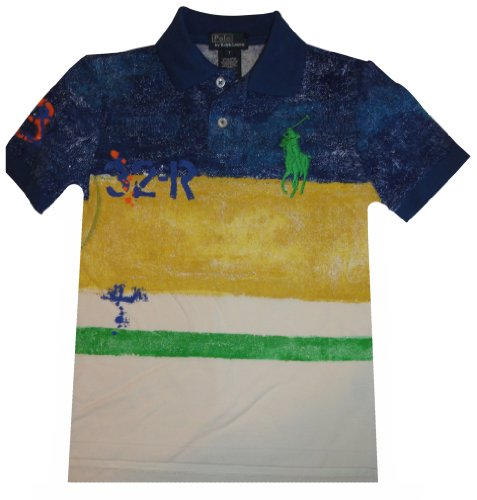 Polo By Ralph Lauren Big Pony Paint Stripe Short Sleeve Shirt Multicolor (5) front-1043634