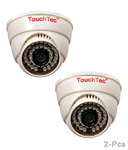 TouchTec 800TVL 36LED 3.6mm Lens (2Pcs) Dome IR Camera