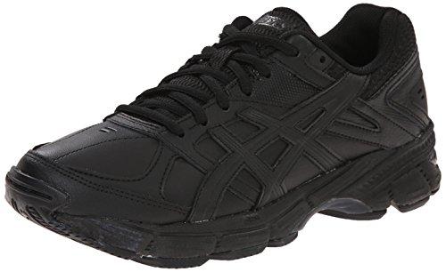 ASICS Women's Gel 190 TR Training Shoe, Black/Black/Silver, 10 2E US