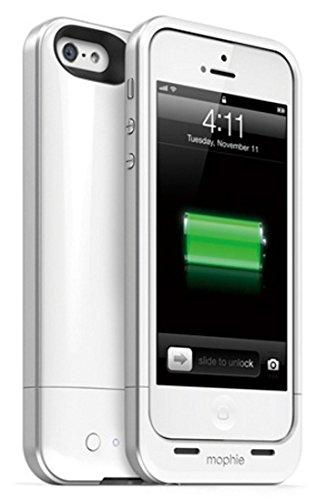 メーカー正規輸入品 保証付 mophie juice pack air for iPhone SE/5s/5 (1,700mAh バッテリー内臓ケース) ホワイト(白色) MOP-PH-000031 [並行輸入品]