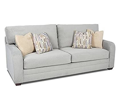 Klaussner Galloway Sofa, Rain/Hydrangea/Doe