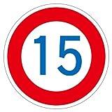 路面道路標識 速度制限 15km/h 路面-323-15