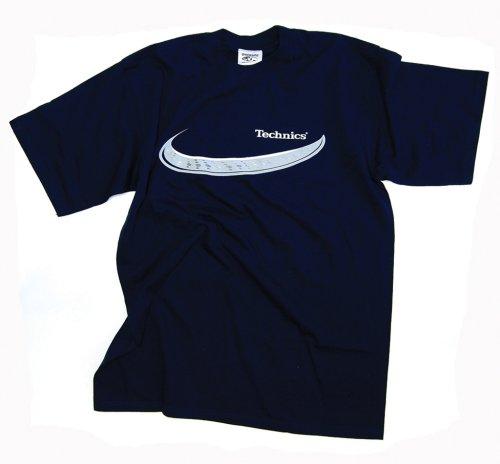 DMC Technics Deck Platter DJ Mens T-Shirt Navy Blue T001S Small