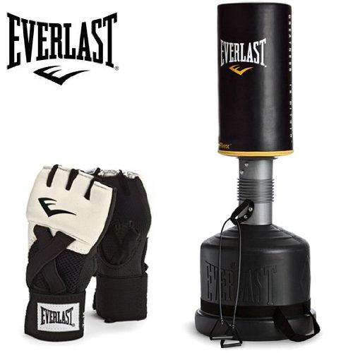 Everlast Everflex Freestanding Punch Bag/Boxing Bag Heavy with Evergel Boxing Bag Gloves