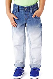 Cotton Rich Adjustable Waist Dip Dye Jeans