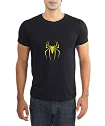 LaCrafters Mens Tshirt - Spiderman Collection_Black_XXL