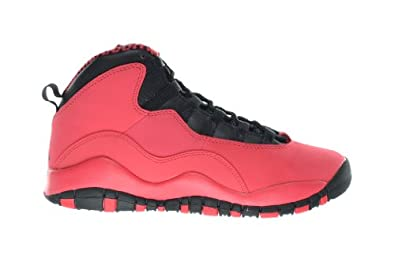 Buy Girls Air Jordan 10 Retro (GS) Big Kids Basketball Shoes Fusion Red Black 487211-605 by Jordan