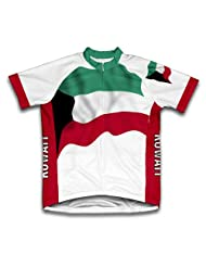 Kuwait Flag Short Sleeve Cycling Jersey for Women