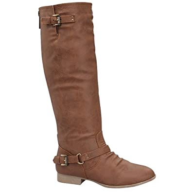 Top Moda COCO-1 Women's Knee High Riding Boot, Color:TAN, Size:5