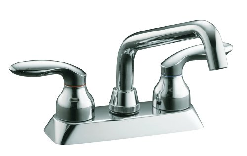 KOHLER K-15270-4-CP Coralais Laundry Sink Faucet, Polished Chrome