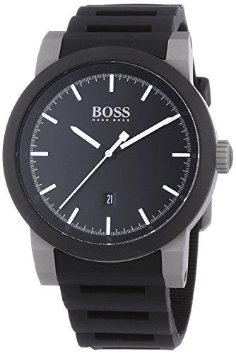 Hugo Boss  NEO - Reloj de cuarzo para hombre, con correa de silicona, color negro