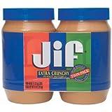 JIF Extra Crunchy Peanut Butter 40 oz Jar (2 Pack)