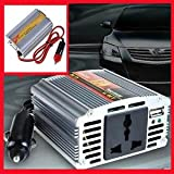350Watts 12v DC To 220v AC Car Power Inverter With USB Port For Laptops, Mobile