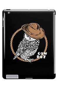 GeekCases Owl Boy Back Case for Apple iPad 2, 3 & 4(Retina)