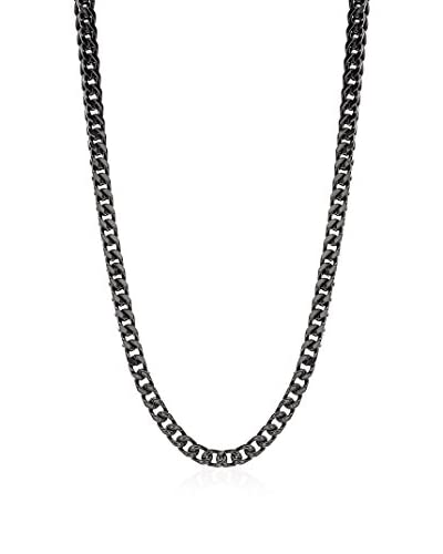 1913 Stainless Steel Black Ion-Plated 2-Row Curb Chain Necklace