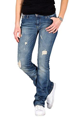 PLEASE - P10 pantaloni jeans da donna stropicciato m denim scuro