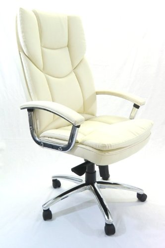 Luxor Imperial Cream Leather Executive Chair