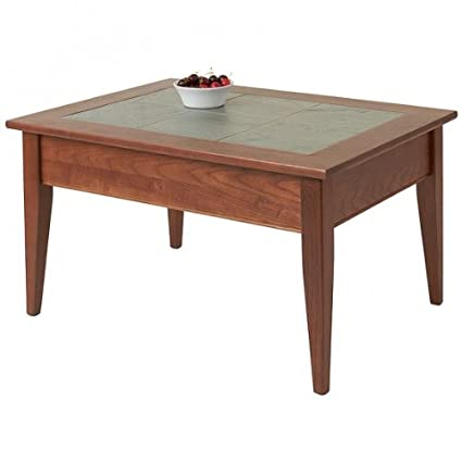 Manchester Wood Slate Top Coffee Table - Chestnut