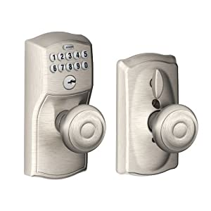 schlage fe595 cam 619 geo camelot keypad entry with flex lock and georgian st. Black Bedroom Furniture Sets. Home Design Ideas