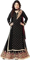 Anbazaar Black Georgette Salwar Kameez