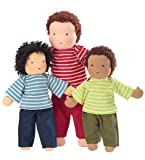 Best Deals 16 Inch Magic Cabin Classic Waldorf-Style Doll in Boy with Black Eyes, Black Hair and Brown Skin