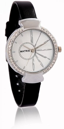 MATRIX Analog Silver Dial Women's Watch-WCH-WH-BK-LTH