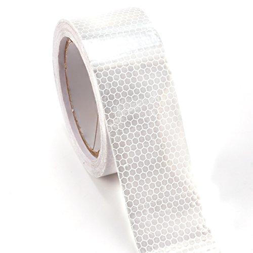 10m-x-5cm-ruban-autocollant-bande-rflchissant-lumire-blanc
