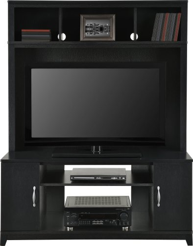Home TV Stands Wood Entertainment Media Center for Flat Console Screens With Storage Wall Unit T.V. Furniture Set (Tv Wall Entertainment Center compare prices)