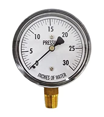Bellows Gauge 30 Inches Water Column