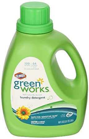 Green Works CLO 30319 90 oz Liquid Laundry Detergent Bottle (Case of 4)