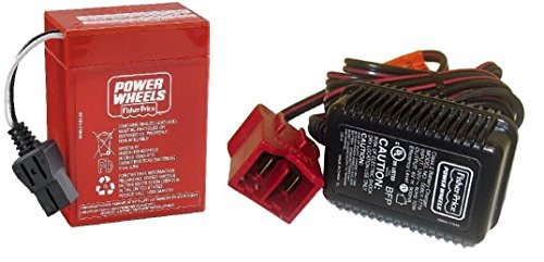 Power Wheels Super 6 Volt Red Battery and Charger Combo Pack (6v Battery Fisher Price compare prices)