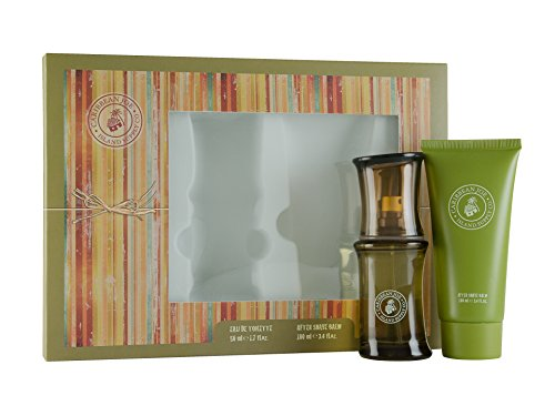 First American Brands Caribbean Joe Eau De Toilette 50ml + 100ml Dopobarba Balsamo Set regalo per lui, 1er Pack (1x 50ml)