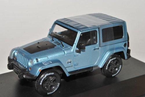 Jeep Wrangler Rubicon Mit Hard Top Hell Blau Ab 2012 1/43 Greenlight Modell Auto
