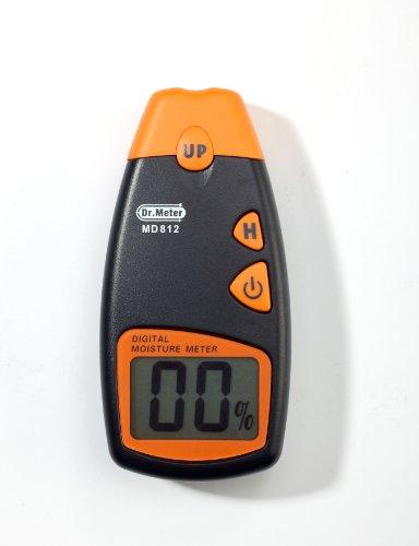 Dr.Meter Indoor / Outdoor Digital Wood Moisture Meter 2-Pin Sensor Humidity Tester W/ Lcd Display