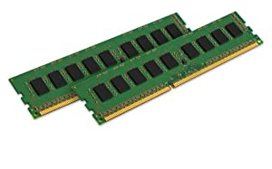 Kingston Technology ValueRAM 8GB Kit (2x4GB) DDR3 1333 MHz DIMM Desktop Server Memory KVR1333D3E9SK2/8G