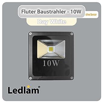 3er pack aktion led fluter baustrahler 10 watt ersetzt 100 watt 900 lumen cob led 4100k. Black Bedroom Furniture Sets. Home Design Ideas