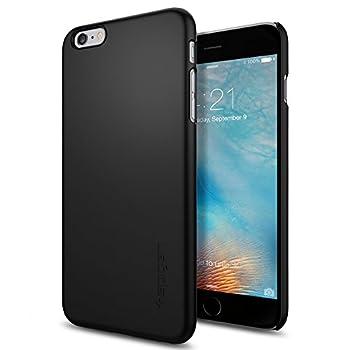 07. Spigen® [Thin Fit] Exact-Fit [Black] Premium Matte Finish Hard Case for iPhone 6s Plus
