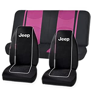 black jeep high back seat covers pink mesh net bench seat covers set universal. Black Bedroom Furniture Sets. Home Design Ideas