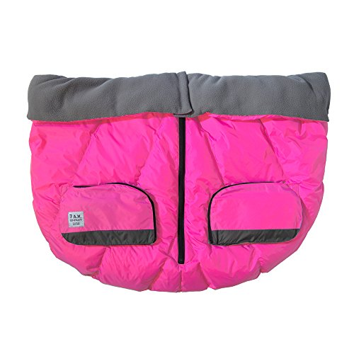 7AM Enfant Duo Double Stroller Blanket, Neon Pink