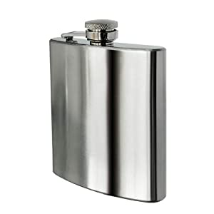 Premier Housewares Hip Flask - 8 oz  - Stainless Steel