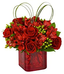 Couple Flowers - Red Roses Hub - Eshopclub Same Day Flower Delivery - Online Christmas Flower - ChristmasFlowers - ChristmasFlowers Bouquets - Send Christmas Flowers
