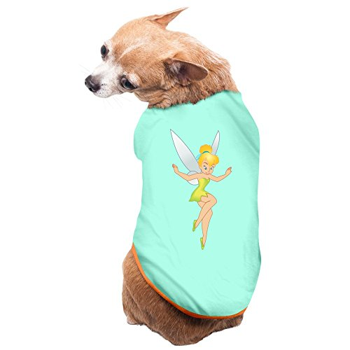 Causal Peter Pan Tinker Bell Pet Dog 100% Fleece Vest Clothing SkyBlue US Size S