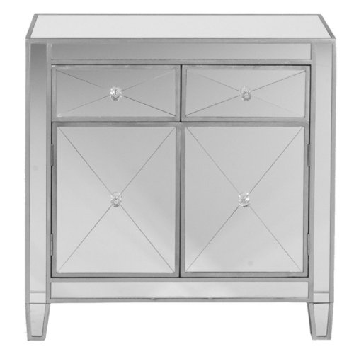 SEI Mirage Mirrored Cabinet Big Discount