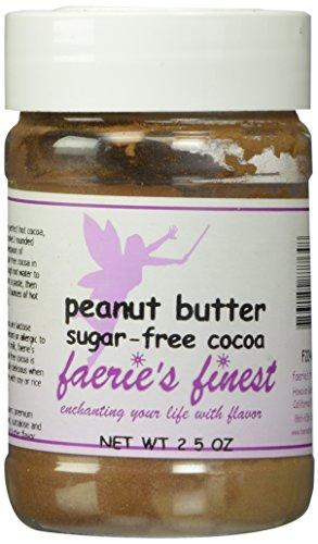 Faeries Finest Sugar-Free Cocoa, Peanut Butter, 2.50 Ounce
