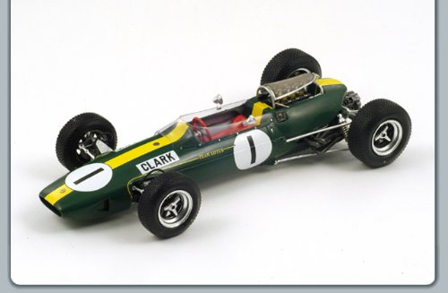 Lotus 33 #1 Winner German GP 1965 World Champion Jim Clark 1/18 by Spark 18S067